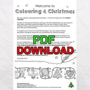 2 cectimm colouring4christmas colouring 4 christmas coloring downloadable pdf advent calendar instruction page