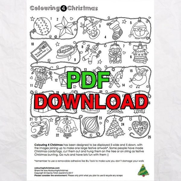 3 cectimm colouring4christmas colouring 4 christmas coloring downloadable pdf advent calendar overview