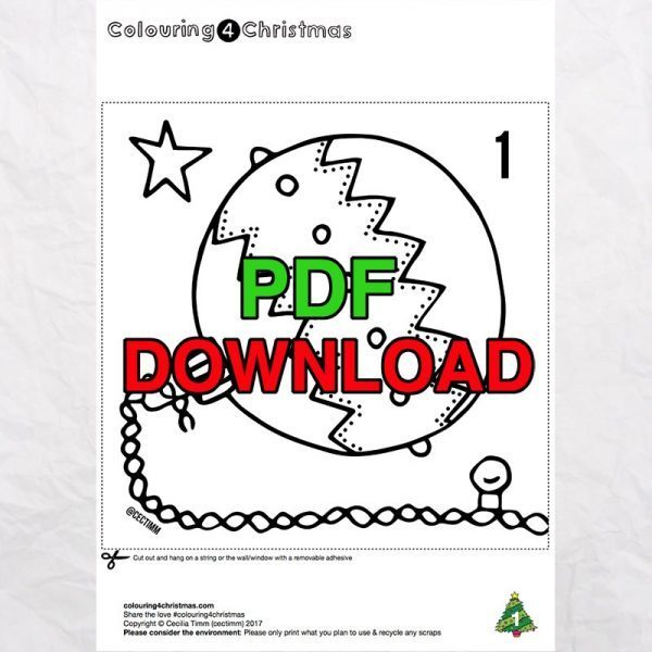 4 cectimm colouring4christmas colouring 4 christmas coloring downloadable pdf advent calendar Page 1