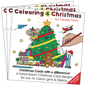 Colouring4Christmas Greeting Christmas Cards Front Cover 3 Three Pack cectimm Cecilia Timm,jpg