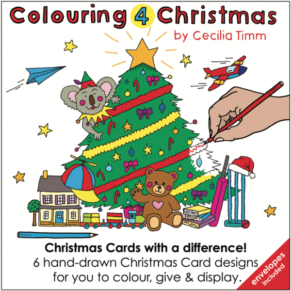 Colouring4Christmas Greeting Christmas Cards Front Cover cectimm Cecilia Timm