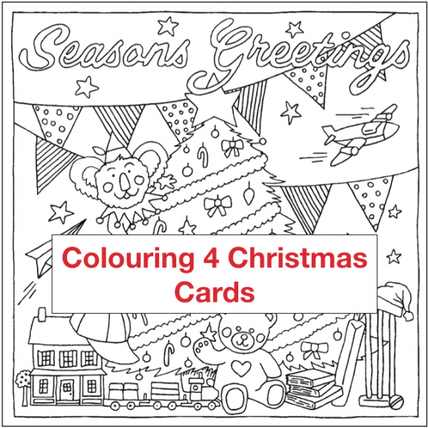 Colouring4Christmas Greeting Christmas Cards Sample Card cectimm Cecilia Timm