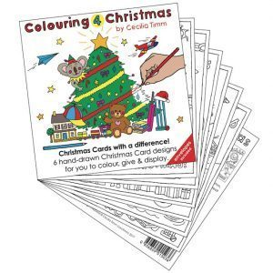 Colouring4Christmas Greeting Christmas Cards Spread cectimm Cecilia Timm