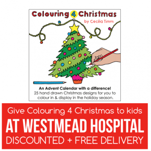 Colouring 4 Christmas Advent Calendar Give to kids at Westmead Childrens Hospital