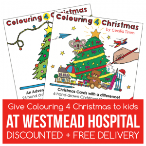 Colouring 4 Christmas Advent Calendar and Christmas Card Pack Give to kids at Westmead Childrens Hospital