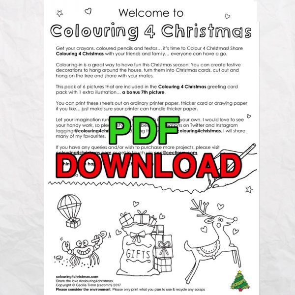 cectimm colouring4christmas colouring 4 christmas coloring downloadable 7 unique designs pdf card designs