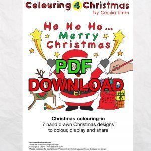 cectimm colouring4christmas colouring 4 christmas coloring downloadable 7 unique designs pdf card designs Cover