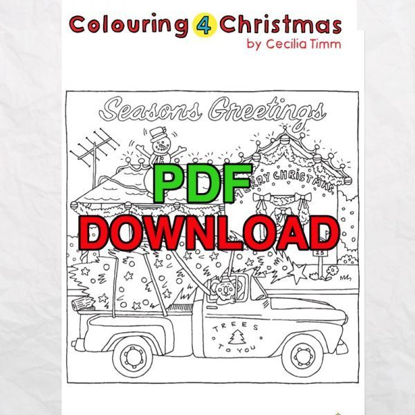 cectimm colouring4christmas colouring 4 christmas coloring downloadable pdf card designs